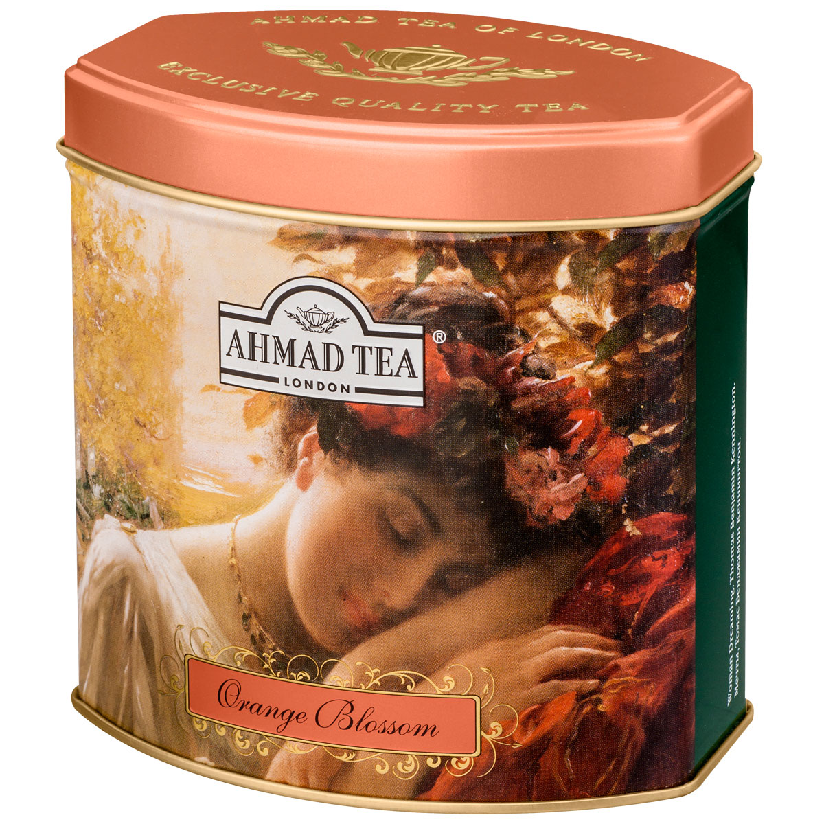 Ahmad Tea Orange Blossom черный чай, 100 г (жестяная банка)1172В европейской традиции цветок апельсина считается символом любви. В честь него назвали букет невесты - флердоранж. Моду на них и на белые свадебные платья ввела английская королева Виктория в 19 в. И также чуть заметная сластинка и тонкий аромат солнечного фрукта составляют особенный легкий букет чая Ahmad Orange Blossom.Заваривать 5-7 минут, температура воды 100°С.Уважаемые клиенты! Обращаем ваше внимание на то, что упаковка может иметь несколько видов дизайна. Поставка осуществляется в зависимости от наличия на складе.Всё о чае: сорта, факты, советы по выбору и употреблению. Статья OZON Гид