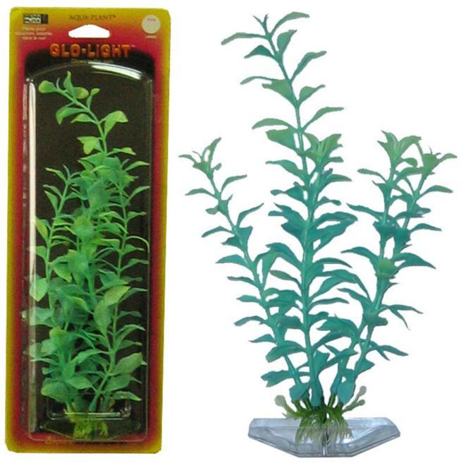 """Растение Penn-Plax """"Blooming Ludwigia"""", светящееся, цвет: сине-зеленый, высота 27 см"""