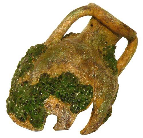 Декорация для аквариума FAUNA Амфора, 14 х 10 х 11,5 см скребок для аквариума хаген складной