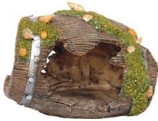 Декорация для аквариума FAUNA Бочка, 13,5 х 9 х 9,5 см скребок для аквариума хаген складной