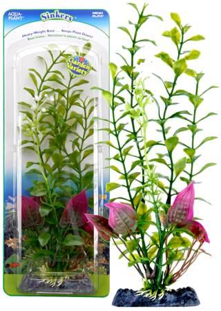 Растение-композиция Penn-Plax Blooming Ludwigia-Malay Crip, высота 20 смP1GVMHПодводное искусственное растение-композиция для аквариума Penn-Plax Blooming Ludwigia-Malay Crip - это композиция из двух растений на массивном основании, удерживающем ее на дне аквариума. Такая композиция радует глаз, а также может быть уютным убежищем для рыб и других обитателей аквариума. Пластиковое растение имеет устойчивое дно, которое не нуждается в дополнительном утяжелении и легко устанавливается в грунт. Композиция очень практична в использовании, имеет стойкую к воздействию воды окраску и не требует обременительного ухода. Ее можно легко достать и протереть тряпкой во время уборки аквариума. Растение-композиция из пластика создаст неповторимый дизайн пресноводного или морского аквариума.Высота растения: 20 см.