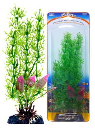 Растение-композиция Penn-Plax Stonewart-Malay Crip, высота 20 смP6GVMHПодводное искусственное растение-композиция для аквариума Penn-Plax Stonewart-Malay Crip - это композиция из двух растений на массивном основании, удерживающем ее на дне аквариума. Такая композиция радует глаз, а также может быть уютным убежищем для рыб и других обитателей аквариума. Пластиковое растение имеет устойчивое дно, которое не нуждается в дополнительном утяжелении и легко устанавливается в грунт. Композиция очень практична в использовании, имеет стойкую к воздействию воды окраску и не требует обременительного ухода. Ее можно легко достать и протереть тряпкой во время уборки аквариума. Растение-композиция из пластика создаст неповторимый дизайн пресноводного или морского аквариума.Высота растения: 20 см.