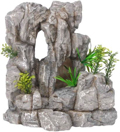 Распылитель декоративный FAUNA Утес с растениямиFIAD-1112Декоративный распылитель FAUNA Утес с растениями, выполненный из пластика, обеспечивает получение пузырьков воздуха в аквариуме, что способствует быстрому насыщению воды кислородом. Такой распылитель будет не только важной составляющей аквариума, но интересным элементом декора, которые не нарушат общую композицию домашнего подводного мира.