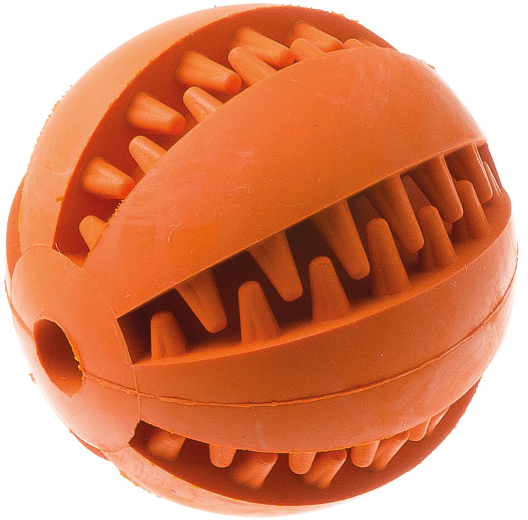 Игрушка для собак Мяч, для чистки зубов, 7 см. 1311713117Игрушка Aveva Мяч изготовлена из высококачественной резины с использованием только безопасных, не токсичных красителей. Привлечет внимание вашего любимца, позволит весело провести ему время, не навредит здоровью, а также поможет вам сохранить в целости личные вещи и предметы интерьера.Рифленая поверхность на игрушке прекрасно массирует десна и чистит зубы.