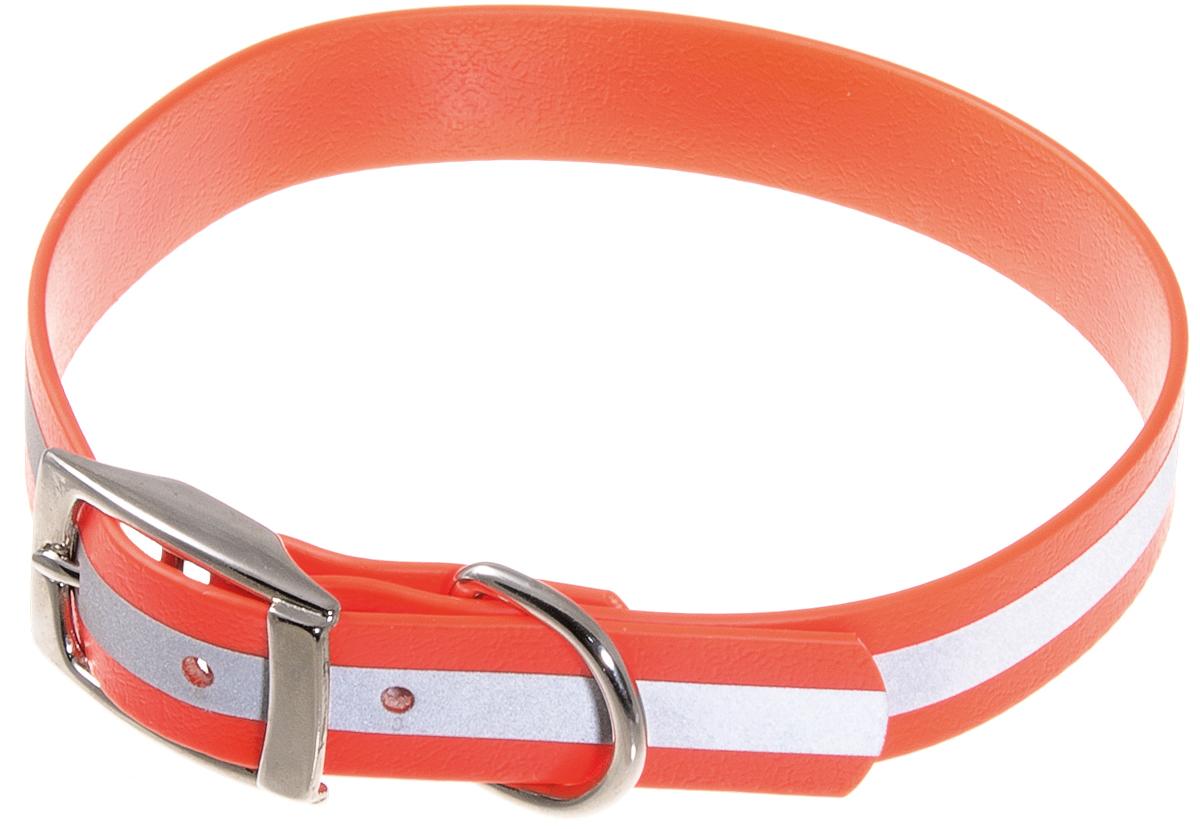 Ошейник для собак V.I.Pet, светоотражающий, цвет: оранжевый, ширина 20 мм, обхват шеи 35-43 см обувь для дождливой погоды