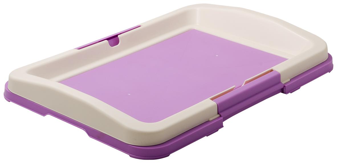 Туалет для собак V.I.Pet  Японский стиль , цвет: фиолетовый, белый, 48 х 35 х 5 см - Наполнители и туалетные принадлежности