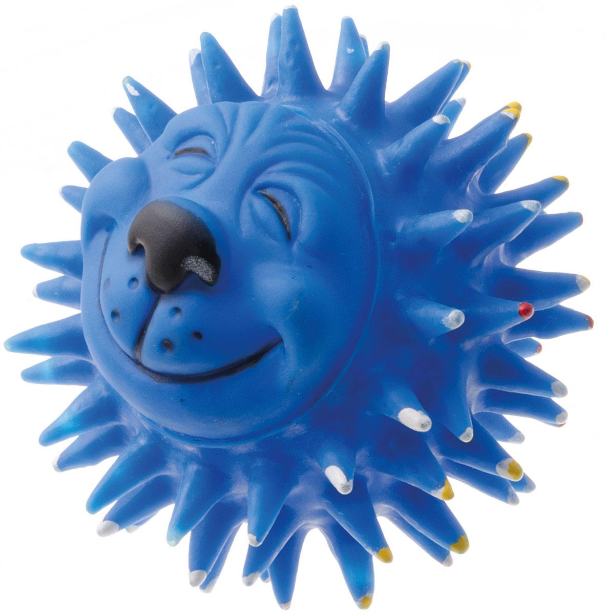 Игрушка для собак V.I.Pet Мяч массажный. Довольный еж, диаметр 10 смV-307Игрушка для собак V.I.Pet Массажный мяч. Довольный еж, изготовленная из винила, предназначена для массажа и самомассажа рефлексогенных зон. Она имеет мягкие закругленные массажные шипы, эффективно массирующие и не травмирующие кожу. Изделие оснащено пищалкой.Игрушка не позволит скучать вашему питомцу ни дома, ни на улице.Диаметр: 10 см.