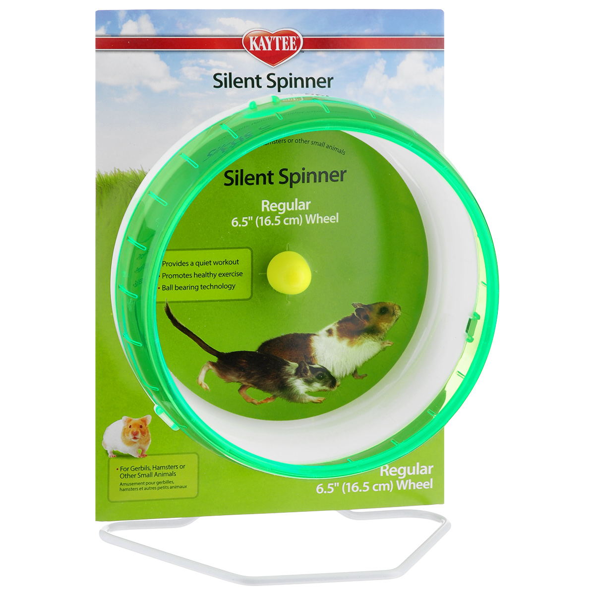 Колесо для грызунов  I.P.T.S. , цвет: зеленый, белый, диаметр 16,5 см - Игрушки