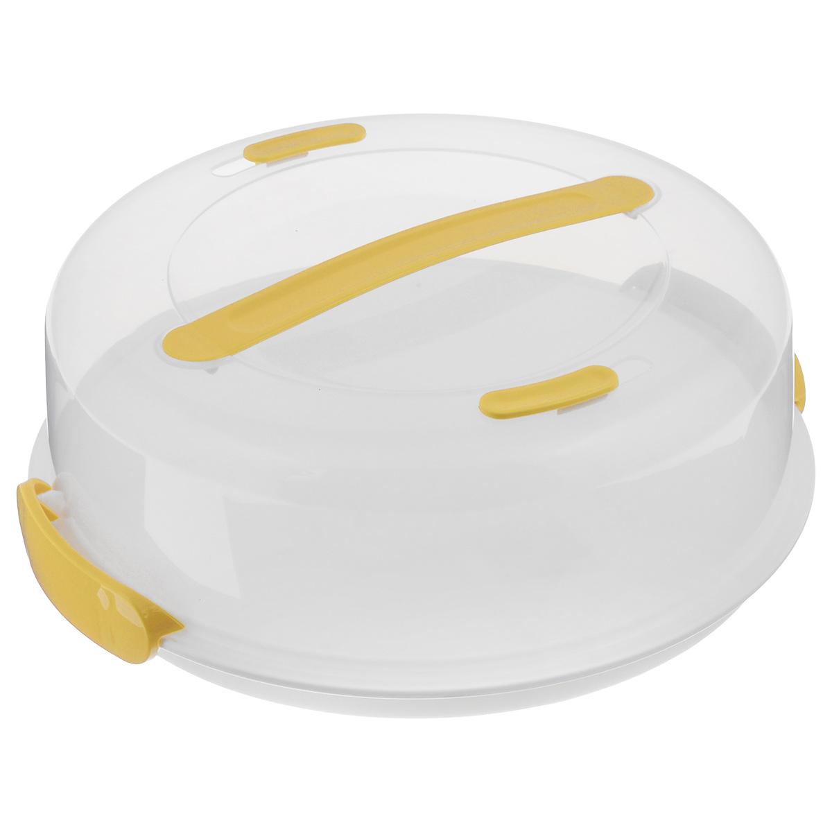 Тортовница с охлаждающим эффектом Tescoma Delicia, с крышкой, диаметр 34 см630841Охлаждающий поднос Tescoma Delicia изготовлен из высококачественного прочного пластика и оснащен прозрачной крышкой. Отлично подходит для переноса и подачи тортов, десертов, канапе, бутербродов, фруктов. Благодаря специальному вкладышу блюда дольше остаются охлажденными и свежими. Крышка фиксируется на подносе за счет двух зажимов, а удобная ручка позволяет переносить поднос с места на место.Можно мыть в посудомоечной машине кроме охлаждающей части.Диаметр подноса: 34 см.Высота подноса: 3 см.Высота стенок крышки: 10 см.
