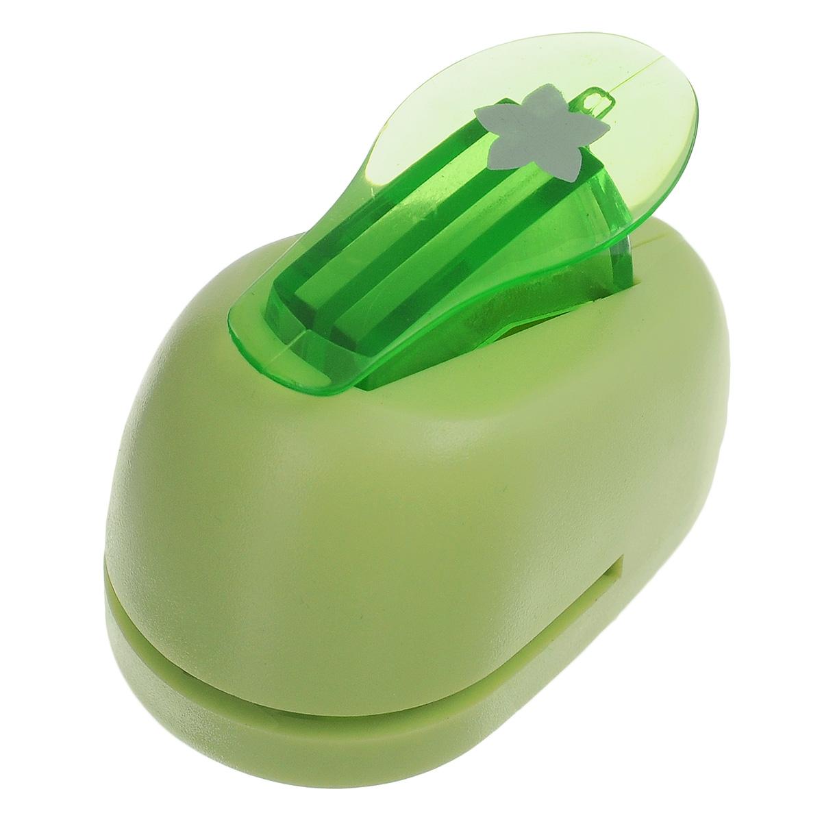 Дырокол фигурный Hobbyboom Цветок, №97, цвет: зеленый, 1 смCD-99XS-097 зеленыйФигурный дырокол Hobbyboom Цветок, выполненный из металла и пластика, используется в скрапбукинге, для украшения открыток, карточек, коробочек и так далее. Рисунок прорези указан на ручке дырокола.Предназначен для прорезания фигурных отверстий в бумаге. Вырезанный элемент также можно использовать для украшения.Для работ используйте бумагу плотностью 80-200 г/м2. Размер дырокола: 5 см х 3 см х 4 см. Размер готовой фигурки: 1 см.