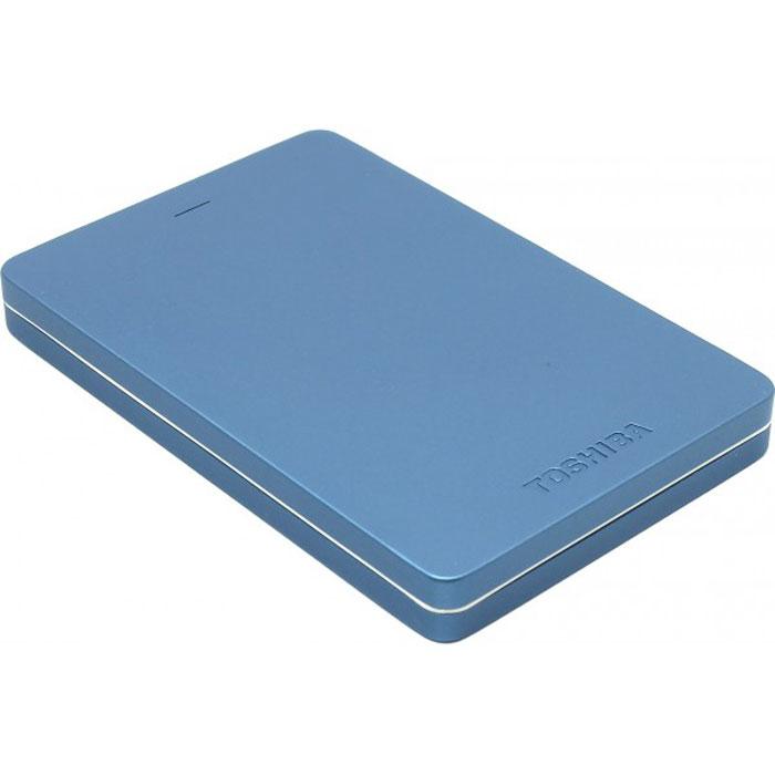 Toshiba Canvio Alu 500GB, Blue внешний жесткий диск (HDTH305EL3AA) - Носители информации