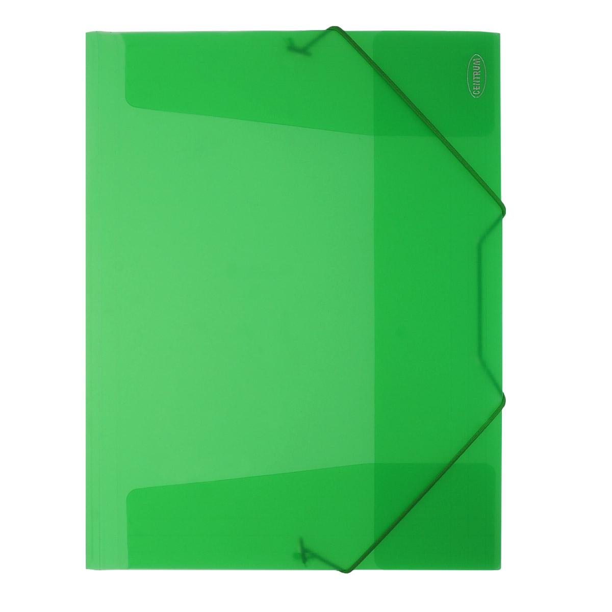 Папка на резинке Centrum пластиковая, формат А4, цвет: зеленый. 8001680016_зеленыйПапка на резинке Centrum станет вашим верным помощником дома и в офисе. Это удобный и функциональный инструмент, предназначенный для хранения и транспортировки больших объемов рабочих бумаг и документов формата А4.Папка изготовлена из износостойкого высококачественного пластика. Состоит из одного вместительного отделения. Грани папки закруглены для дополнительной прочности и сохранности опрятного вида папки.Папка - это незаменимый атрибут для любого студента, школьника или офисного работника. Такая папка надежно сохранит ваши бумаги и сбережет их от повреждений, пыли и влаги.