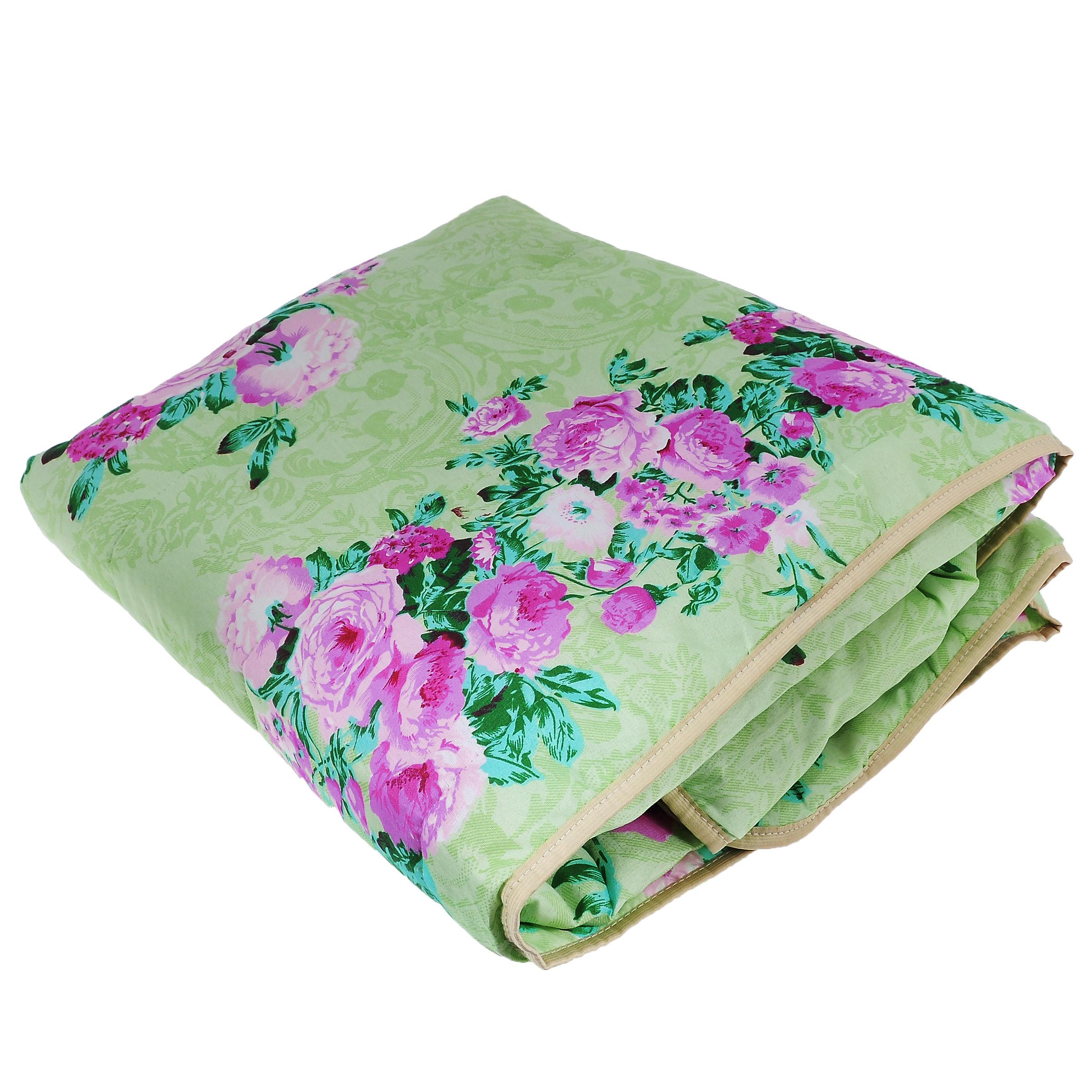 Одеяло летнее OL-Tex Miotex, наполнитель: полиэфирное волокно Holfiteks, цвет: салатовый, розовый, 172 см х 205 смМХПЭ-18-1_салатовый, пионыЛегкое летнее одеяло OL-Tex Miotex создаст комфорт и уют во время сна. Чехол выполнен из полиэстера и оформлен красочным рисунком. Внутри - современный наполнитель из полиэфирного высокосиликонизированного волокна Holfiteks, упругий и качественный. Прекрасно держит тепло. Одеяло с наполнителем Holfiteks легкое и комфортное. Даже после многократных стирок не теряет свою форму, наполнитель не сбивается, так как одеяло простегано и окантовано. Не вызывает аллергии. Holfiteks - это возможность легко ухаживать за своими постельными принадлежностями. Можно стирать в машинке, изделия быстро и полностью высыхают - это обеспечивает гигиену спального места при невысокой цене на продукцию.Плотность: 100 г/м2.