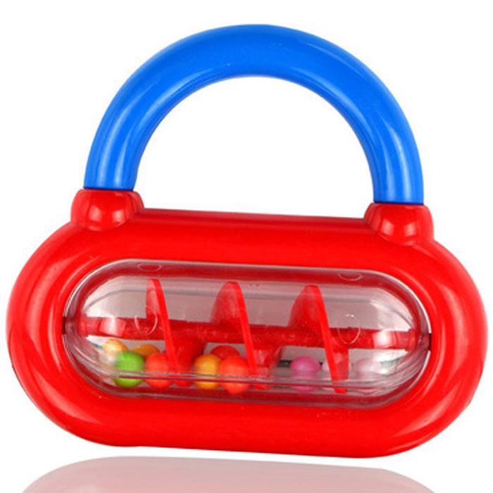 Погремушка Малышарики Завиток, цвет: красный, синий погремушка малышарики лягушка