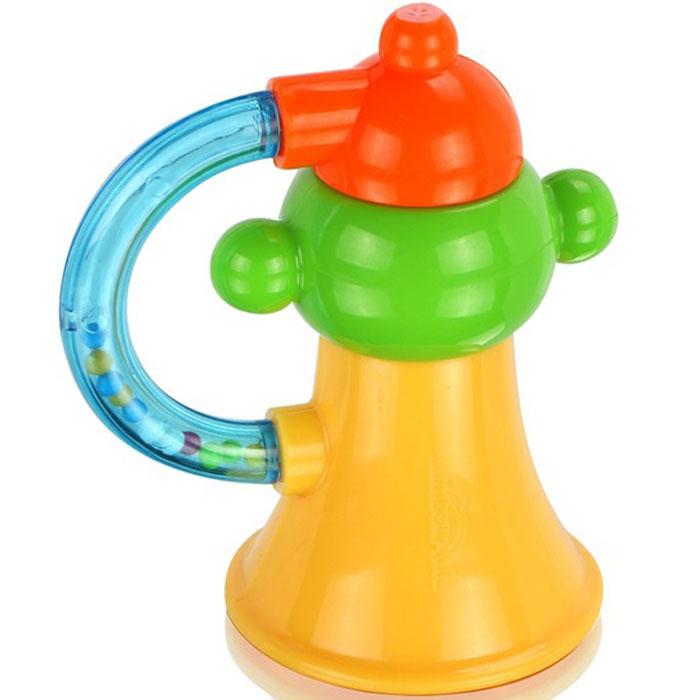 Игрушка-погремушка Малышарики Маленький горн, цвет: желтый, зеленый малышарики мягкая игрушка нюшенька