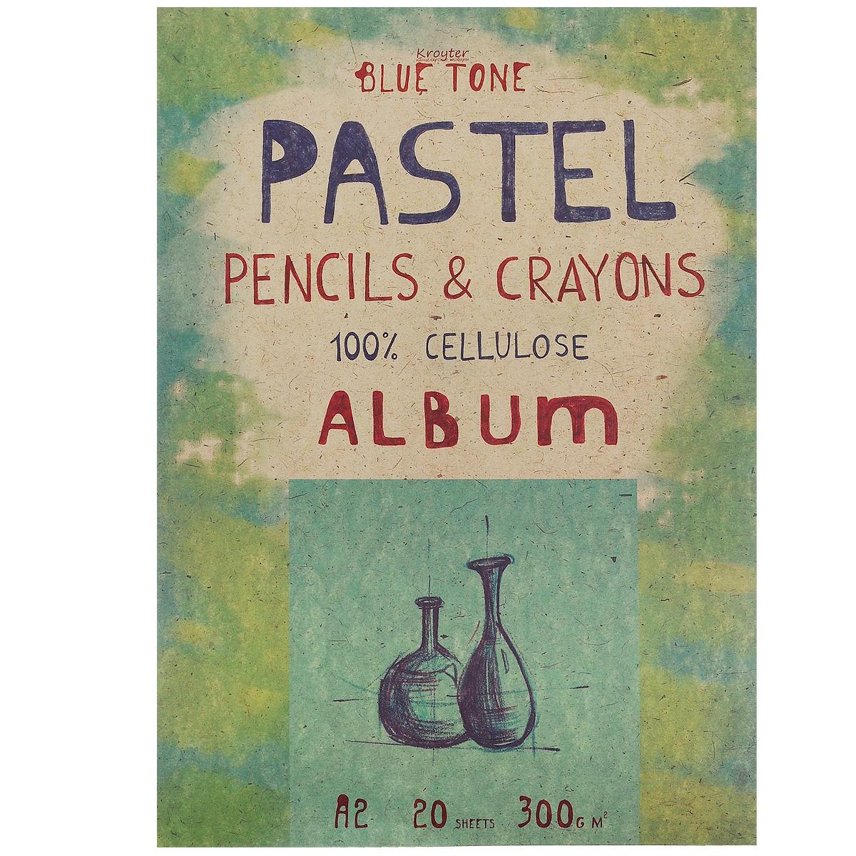 Альбом для пастели Kroyter, 20 листов, формат А206494Альбом Kroyter используется для рисования пастелью, мелками, углем. После грунтовки можно использовать для акриловых и масляных красок. Внутренний блок состоит из 20 листов картона голубого цвета. Крепление блока - склейка, выполненная по технологии, позволяющей изымать листы из блока без его разрушения. Твердая подложка позволяет использовать альбом вне класса или дома. Формат листов - А2.Плотность: 300 г/м2.