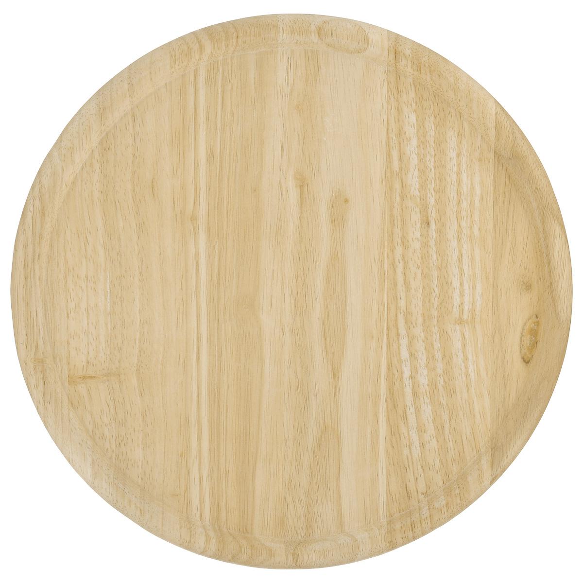 """Доска для пиццы """"Kesper"""" изготовлена из каучукового твердого дерева. Бортик позволяет пицце не соскальзывать с поверхности. Доска удобна в эксплуатации. Подходит как для домашнего использования, так и для профессиональных точек общепита. Толщина: 1,5 см. Высота бортика: 0,5 см. Внутренний диаметр: 28 см"""