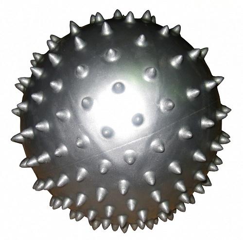 Мяч массажный Alonsa, цвет: серебристый, 20 см мяч массажный alonsa mg 2