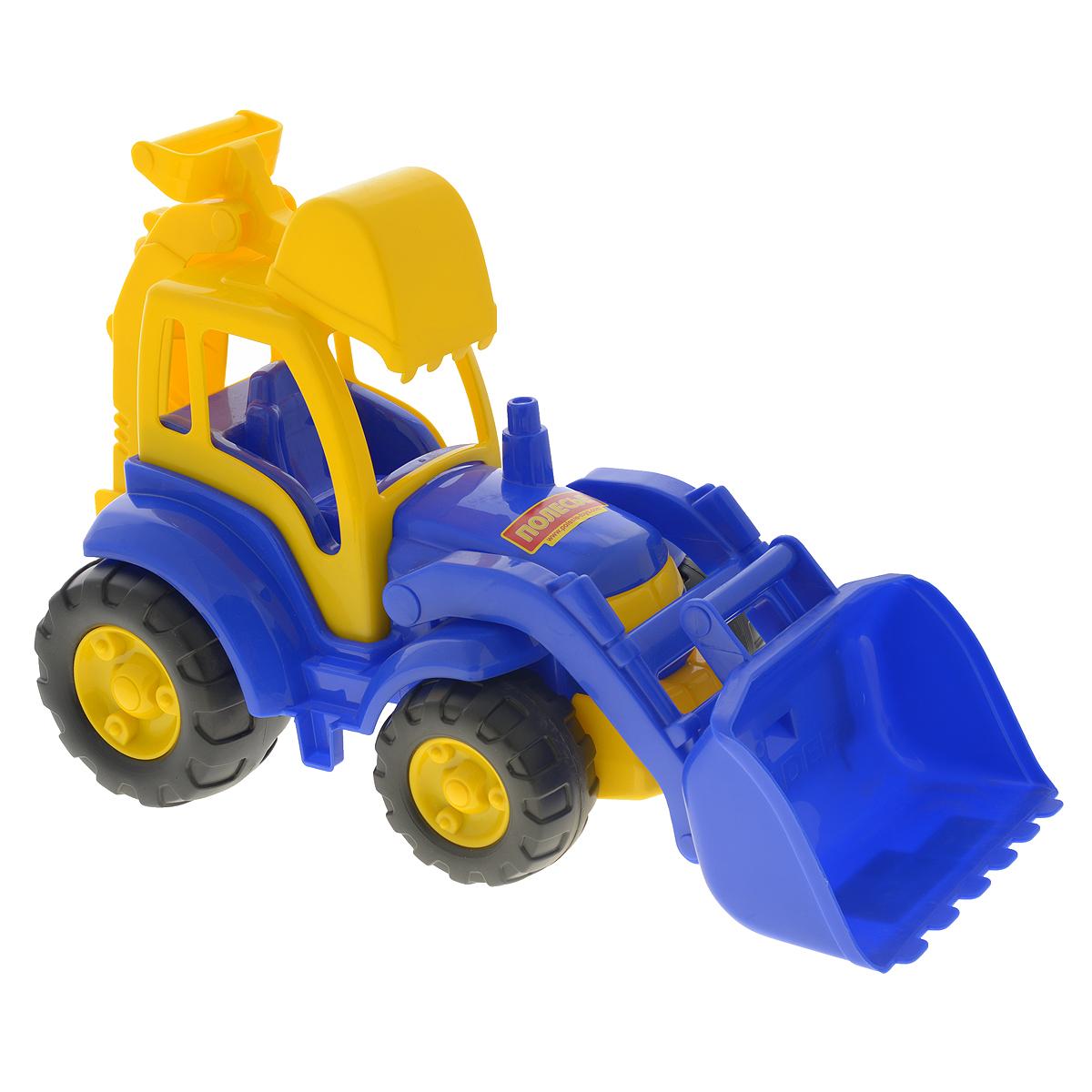 полесье трактор чемпион цвет синий желтый Полесье Трактор Чемпион цвет синий желтый