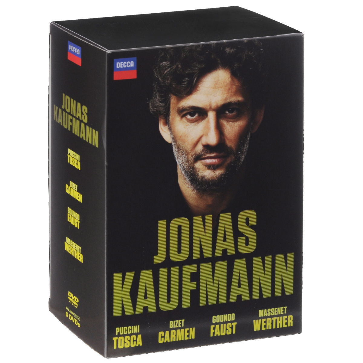 Jonas Kaufmann: Bizet: Carmen / Puccini: Tosca / Gounod: Faust / Massenet: Werther (6 DVD) цена
