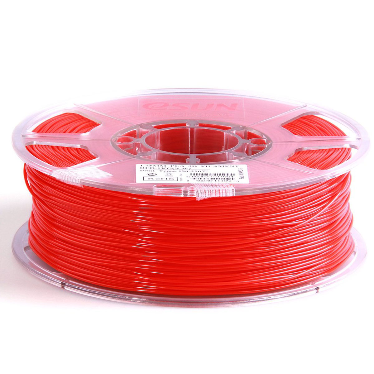 ESUN пластик PLA в катушке, Red, 1,75 мм - Расходные материалы