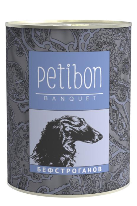 Консервы для собак и щенков Petibon Banquet Бефстроганов, 340 г312109002Консервы Petibon Banquet Бефстроганов - влажное мясное лакомство под сметанным соусом для собак и щенков. Продукт представляет собой деликатесное ресторанное блюдо, адаптированное для кормления домашних животных. Лакомство обладает хорошей питательной ценностью и легко усваивается. Использование в составе овощей и различных растительных ингредиентов не только обеспечивает превосходные вкусовые качества корма, но и снабжает собак массой витаминов и минералов. Рецептура разработана при участии ветеринарного врача. Употребление в пищу питомцем абсолютно безопасно. Состав: говядина, сметанный соус, лук, грибы, масло растительное. Пищевая ценность (в 100 г продукта): протеин 10 г, жир 7 г, влага 82 г, клетчатка 0,4 г, зола 2 г. Минеральные вещества: фосфор 0,8 г, кальций 0,2 г. Энергетическая ценность: 103 ккал. Товар сертифицирован.
