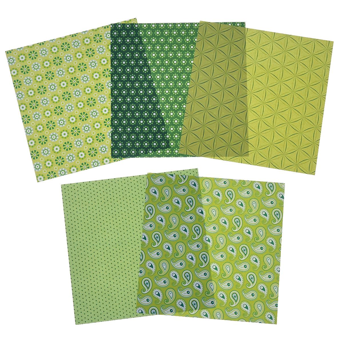 Бумага для оригами Folia, цвет: зеленый, 15 х 15 см, 50 листов бумага папиросная folia 50 см х 70 см 10 листов 7708130