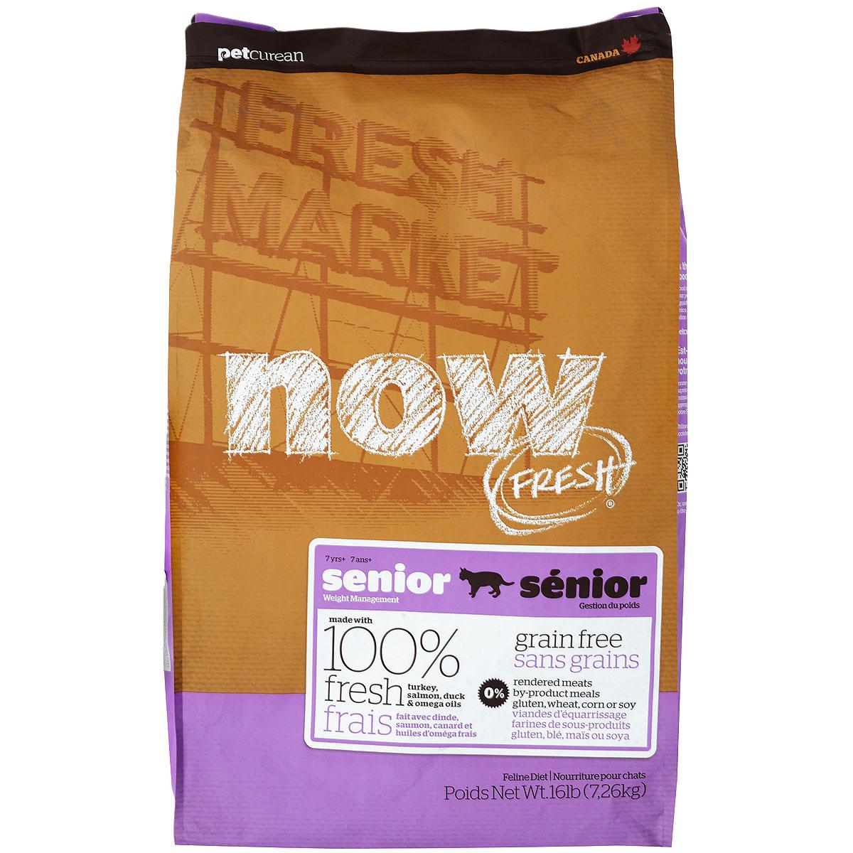 """Корм сухой Now Fresh """"Контроль веса"""" для кошек, беззерновой, с индейкой, уткой и овощами, 7,26 кг"""
