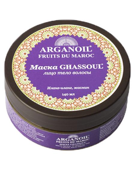 Дом Арганы Fruits du Maroc Маска Ghassoul для лица, тела и волос, 140 мл