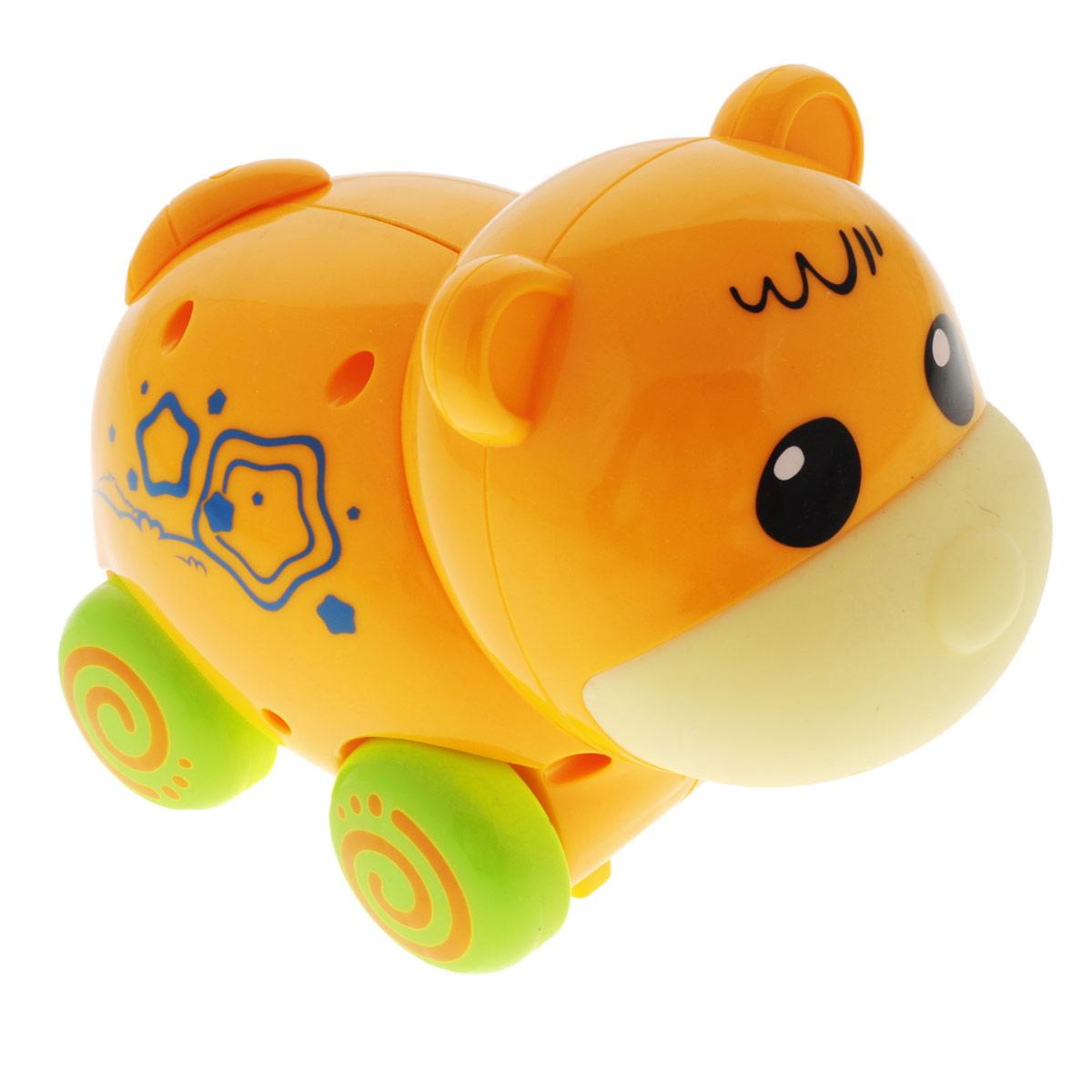 Игрушка Mioshi Active Зверята: Мишка, цвет: оранжевый