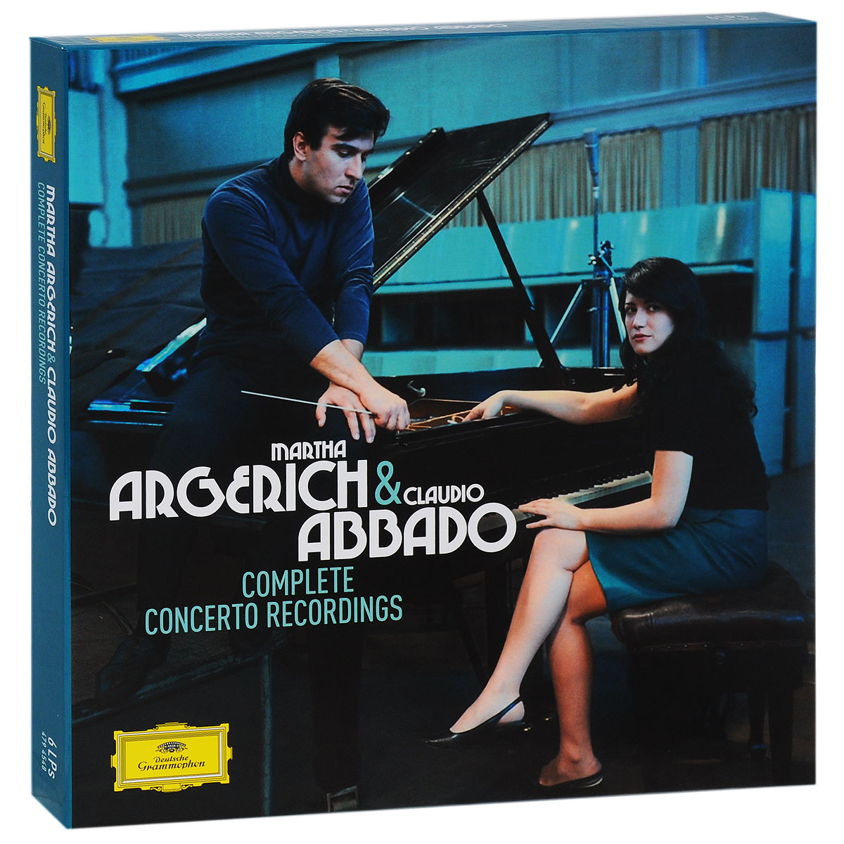 Марта Аргерих,Berliner Philharmoniker,Клаудио Аббадо,The London Symphony Orchestra,Mahler Chamber Orchestra,Orchestra Mozart Martha Argerich & Claudio Abbado. Complete Concerto Recordings. Limited Edition (6 LP) claudio abbado sting prokofiev peter and the wolf