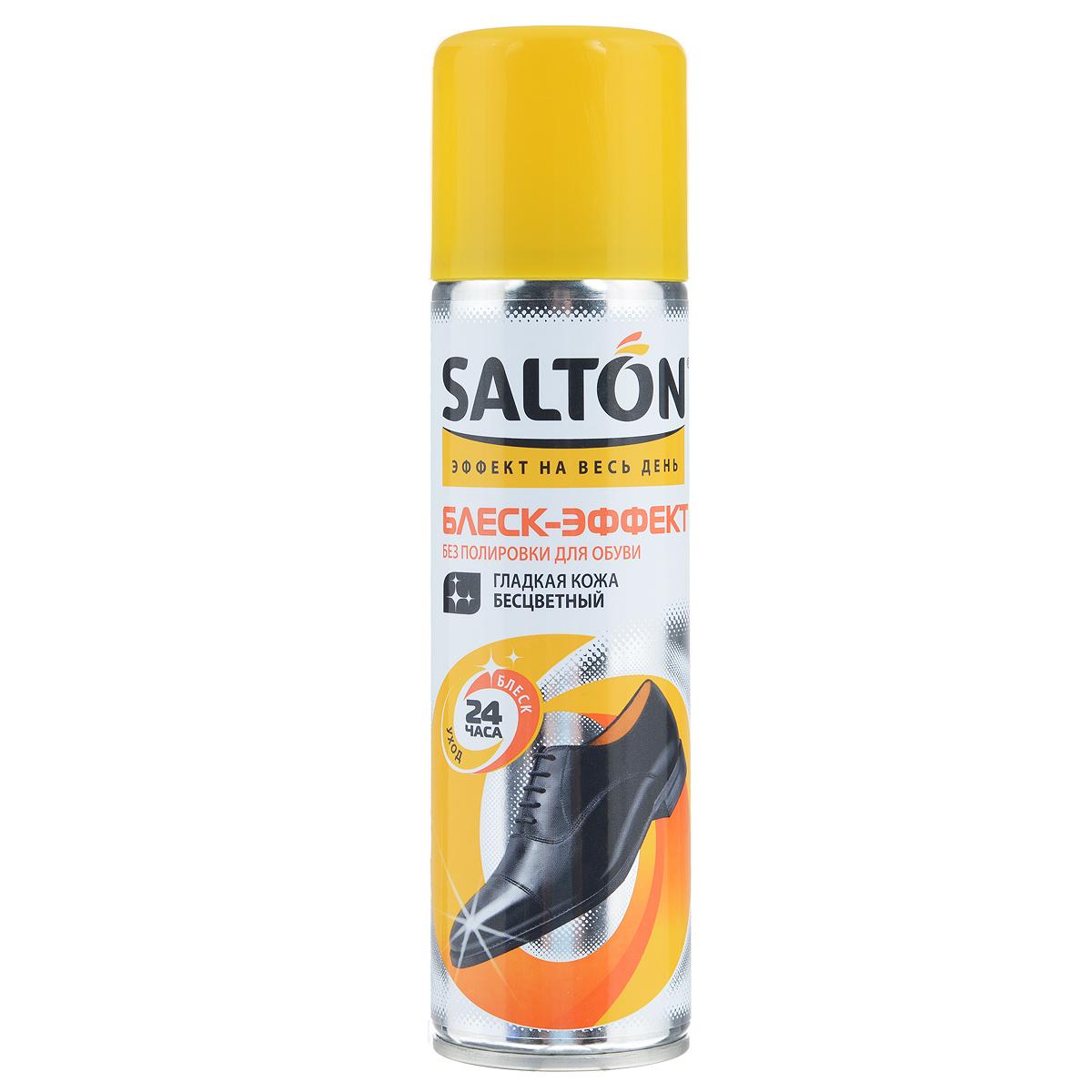 Блеск-эффект без полировки для гладкой кожи Salton, цвет: бесцветный, 250 мл262587291Средство Salton предназначено для придания интенсивного и устойчивого блеска обуви из гладкой кожи. Не требует полировки. Улучшает насыщенность цвета изделия, смягчает кожу, обладает водоотталкивающим эффектом.Не использовать для лаковой кожи!Состав: 30%: алифатический растворитель, пропеллент (бутан, изобутан, пропан).