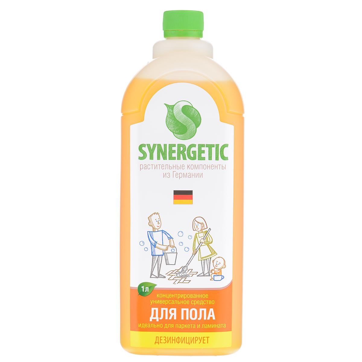 Средство для мытья полов Synergetic, концентрированное, 1 л101100Концентрированное средство для мытья полов Synergetic мягко очищает и ухаживает, защищая поверхность от неблагоприятного внешнего воздействия. Не оставляет разводов. Идеально подходит для мытья паркета и ламината, а также любых других поверхностей.Состав: 5-15% А-тензиды (растительного происхождения), НТА 3%, натуральный экстракт цветов, пищевой краситель.Товар сертифицирован.Как выбрать качественную бытовую химию, безопасную для природы и людей. Статья OZON Гид