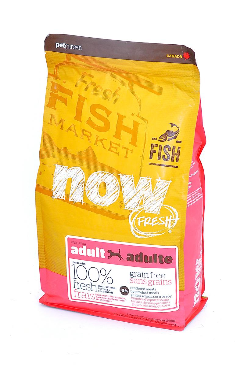 Корм сухой Now Fresh для взрослых собак с чувствительным пищеварением, беззерновой, с форелью и лососем, 2,72 кг филе форели свежемороженое в кирове
