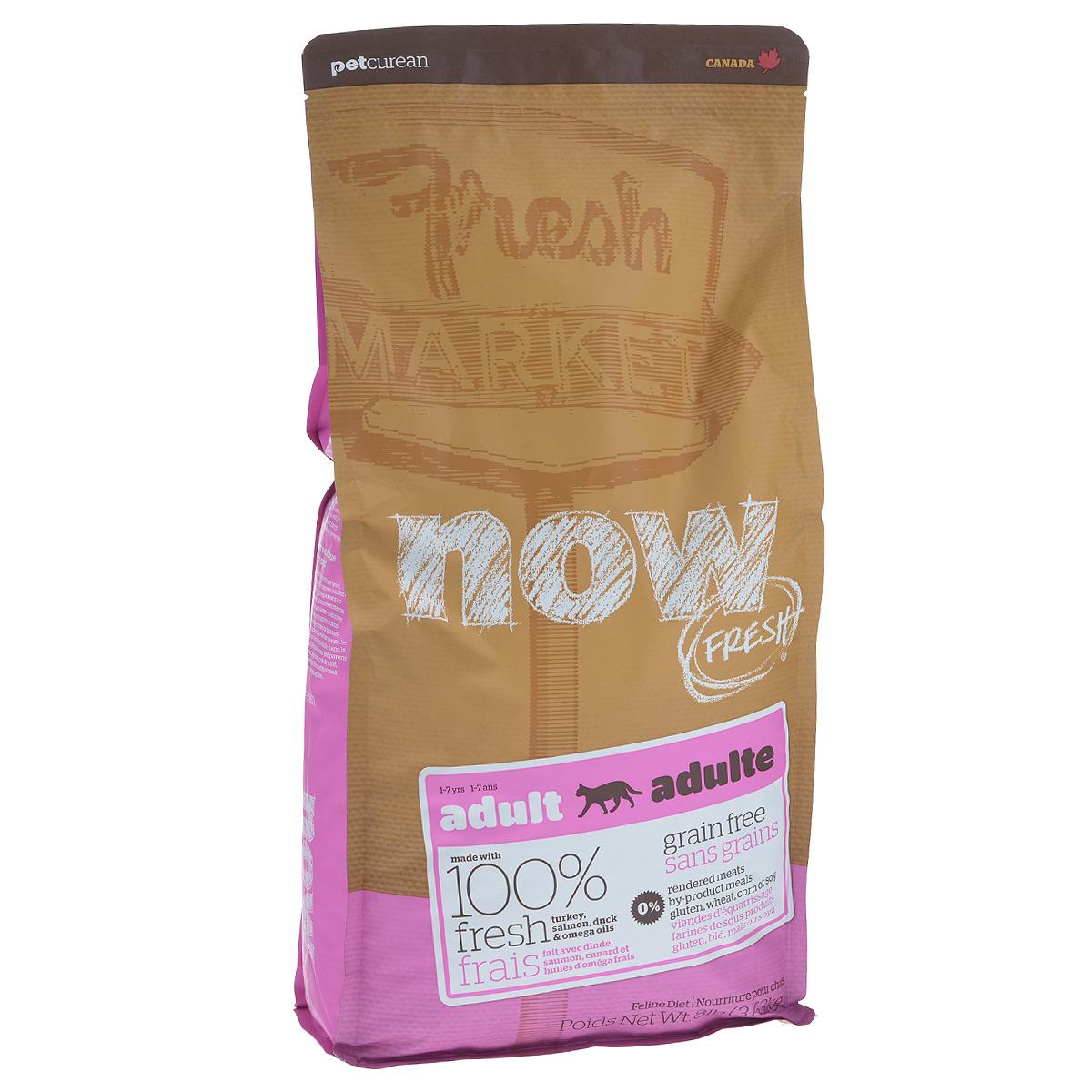 Корм сухой Now Fresh для взрослых кошек, беззерновой, с индейкой, уткой и овощами, 3,63 кг20043Now Fresh - полностью сбалансированный холистик корм из свежего филе индейки и утки,выращенных на канадских фермах. Рекомендован для взрослых кошек. При производстве кормовиспользуется только свежее мясо индейки, утки, лосося, кокосовое и рапсовое масло. Этопервый беззерновой корм со сбалансированным содержание белков и жиров. Ключевые преимущества: - полностью беззерновой,- не содержит субпродуктов, красителей, говядины, мясных ингредиентов, выращенных нагормонах, - оптимальное соотношение белков и жиров помогает кошек оставаться здоровым и сохранятьотличную форму,- докозагексаеновая кислота (DHA) и эйкозапентаеновая кислота (EPA) необходима длянормальной деятельности мозга и здорового зрения,- пробиотики и пребиотики обеспечивают здоровое пищеварение,- таурин необходим для здоровья глаз и нормального функционирования сердечной мышцы,- омега-масла в составе необходимы для здоровой кожи и шерсти,- антиоксиданты укрепляют иммунную систему. Состав: филе индейки, картофель, горох, свежие цельные яйца, томаты, масло канолы(источник витамина Е), семена льна, натуральный ароматизатор, филе лосося, утиное филе,кокосовое масло (источник витамина Е), яблоки, морковь, тыква, бананы, черника, клюква,малина, ежевика, папайя, ананас, грейпфрут, чечевица, брокколи, шпинат, творог, росткилюцерны, дикальций фосфат, люцерна, карбонат кальция, фосфорная кислота, натрия хлорид,лецитин, хлорид калия, DL-метионин, таурин, витамины (витамин Е, L-аскорбил-2-полифосфатов (источник витамина С), никотиновая кислота, инозит, витамин А, тиамин,амононитрат, пантотенат D-кальция, пиридоксинагидрохлорид, рибофлавин, бета-каротин,витамин D3, фолиевая кислота, биотин, витаминВ12), минералы (протеинат цинка, сульфатжелеза, оксид цинка, протеинат железа, сульфат меди, протеинат меди, протеинат марганца,оксид марганца, йодат кальция, селенит натрия), сушеные водоросли, L-лизин, сухой кореньцикория, Lactobaci