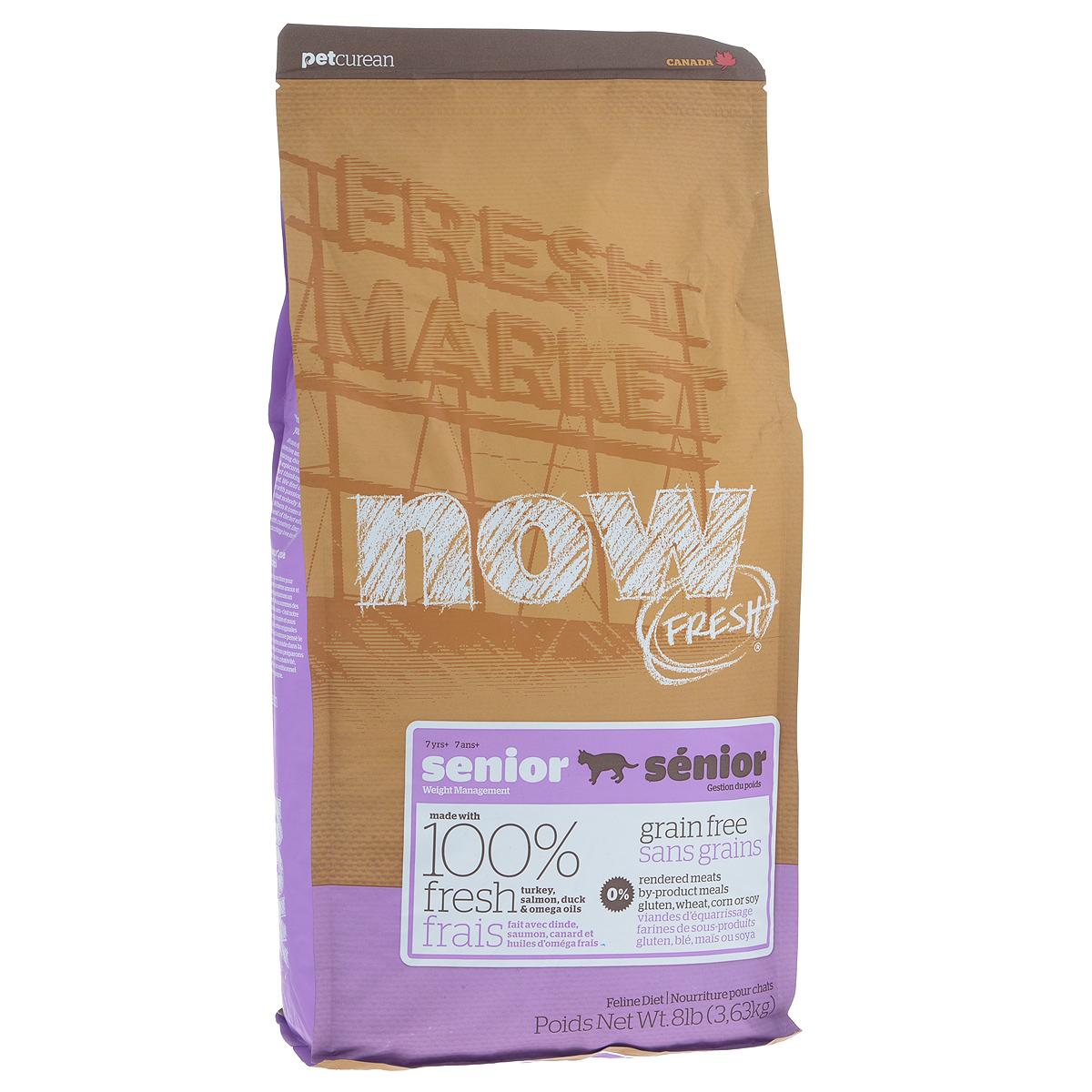 """Корм сухой Now Fresh """"Контроль веса"""" для кошек, беззерновой, с индейкой, уткой и овощами, 3,63 кг"""