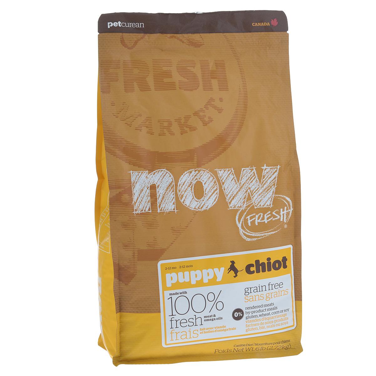 Корм сухой Now Fresh для щенков, беззерновой, с индейкой, уткой и овощами, 2,72 кг10109Now Fresh - полностью сбалансированный холистик корм для щенков всех пород из филе индейки, утки и лосося.Это первый беззерновой корм со сбалансированным содержание белков и жиров.Ключевые преимущества: - не содержит субпродуктов, красителей, говядины, мясных ингредиентов, выращенных на гормонах, - омега-масла в составе необходимы для здоровой кожи и шерсти, - пробиотики и пребиотики обеспечивают здоровое пищеварение, - антиоксиданты укрепляют иммунную систему. Состав: филе индейки, картофель, горох, свежие цельные яйца, томаты, масло канолы (источник витамина Е), семена льна, натуральный ароматизатор, филе лосося, утиное филе, кокосовое масло (источник витамина Е), яблоки, морковь, тыква, бананы, черника, клюква, малина, ежевика, папайя, ананас, грейпфрут, чечевица, брокколи, шпинат, творог, ростки люцерны, дикальций фосфат, люцерна, карбонат кальция, фосфорная кислота, натрия хлорид, лецитин, хлорид калия, DL-метионин, таурин, витамины (витамин Е, L-аскорбил-2-полифосфатов (источник витамина С), никотиновая кислота, инозит, витамин А, тиамин, амононитрат, пантотенат D-кальция, пиридоксинагидрохлорид, рибофлавин, бета-каротин, витамин D3, фолиевая кислота, биотин, витаминВ12), минералы (протеинат цинка, сульфат железа, оксид цинка, протеинат железа, сульфат меди, протеинат меди, протеинат марганца, оксид марганца, йодат кальция, селенит натрия), сушеные водоросли, L-лизин, сухой корень цикория, Lactobacillus, Enterococcusfaecium, Aspergillus, экстракт Юкки Шидигера, L-карнитин, ноготки, сушеный розмарин. Гарантированный анализ: белки - 28%, жиры - 18%, клетчатка - 3%, влажность - 10%, кальций - 1,2%, фосфор - 0,8%, докозагексаеновая кислота (DHA) - 0,02%, эйкозапентаеновая кислота (EPA) - 0,02%, жирные кислоты Омега 6 - 2,7%, жирные кислоты Омега 3 - 0,54%, лактобактерии (Lactobacillus acidophilus, Enterococcus faecium) - 90000000 cfu/lb. Калорийность: 3746 ккал/кг.Вес: 2,72 кг.Т