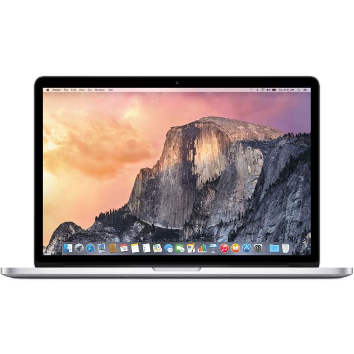 Apple MacBook Pro 15.4 Retina (MJLQ2RU/A)MJLQ2RU/AApple MacBook Pro 15,4 Retina - легендарный ноутбук с экраном двойного разрешения и новым тонким корпусом.Построен на платформе Intel, оснащен 4-ядерным процессором четвертого поколения, графическимпроцессором Intel Iris Pro Graphics и твердотельным накопителем емкостью 256 ГБ.Пять миллионов пикселей. Один дисплей:У дисплея Retina более 4 миллионов пикселей на 13-дюймовой модели и более 5 миллионов на 15-дюймовой. Этоидеальный экран для просмотра и редактирования фотографий высокого разрешения. Благодаря такомуколичеству пикселей изображение отображается гораздо точнее, поэтому и редактировать его можно сбольшей точностью. И самое главное - на фотографиях можно рассмотреть мельчайшие детали и текстуры.Изображение на дисплее Retina настолько чёткое, что вы сможете определить правильно сфокусированныеснимки даже на миниатюрах.Больше цвета и контраста. И меньше бликов:Новый дисплей Retina уменьшает блики, обеспечивая при этом превосходные цвета и качество изображения.Его контрастность на 29% выше, чем у стандартного экрана MacBook Pro. Чёрный цвет выглядит темнее. Абелый - светлее. И все остальные цвета также отличаются богатством и яркостью. Благодаря технологии IPSугол обзора экрана составляет 178° - Вы почувствуете разницу практически под любым углом.Флэш - это значит быстро:Разница ощутима, что бы Вы ни делали: время запуска компьютера составляет несколько секунд, приложениязапускаются моментально, а перемещение по рабочему столу происходит невероятно плавно и быстро. И всёэто благодаря флэш-памяти, которая даёт производительность в четыре раза больше, чем при использованиитрадиционных жёстких дисков. При работе с такими приложениями, как Final Cut Pro или Aperture, можновыполнять самые сложные задачи, просто используя внутреннюю память. А поскольку MacBook Pro Retinaоснащён флэш-памятью до 256 ГБ, Вы всегда можете иметь под рукой все важные файлы - даже видеофайлы ибиблиотеки большого объёма. У флэш-накопителя нет 