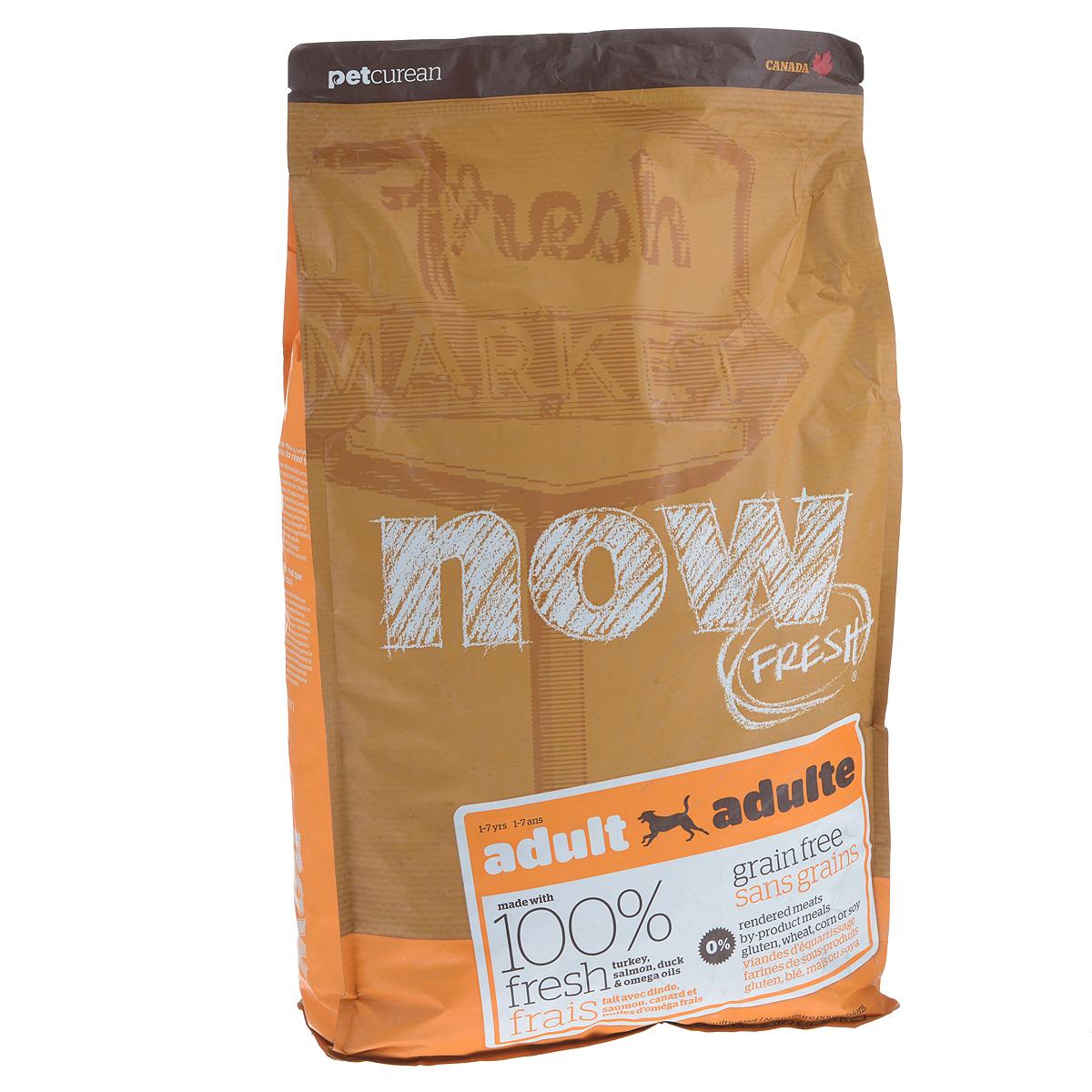 """Корм сухой """"Now Fresh"""" для взрослых собак, беззерновой, с индейкой, уткой и овощами, 5,44 кг"""