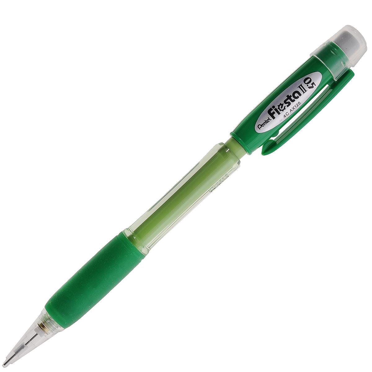 "Карандаш автоматический Pentel ""Fiesta II"", цвет корпуса: зеленый. PAX125-D"