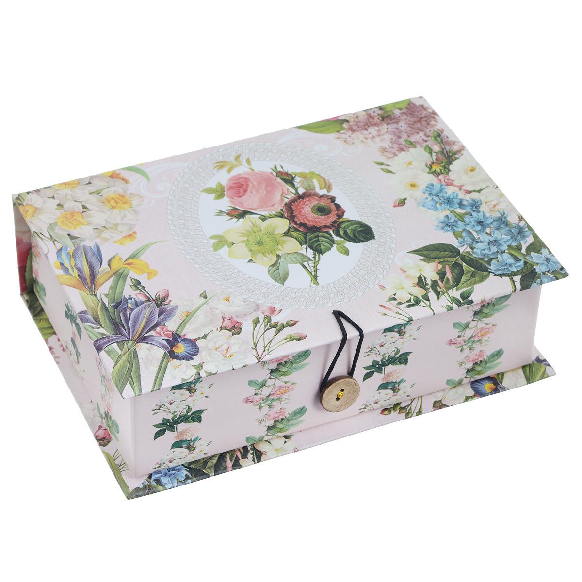 Подарочная коробка Феникс-Презент Весенний сад, 20 х 14 х 6 см подарочная коробка машинки 20 см х 14 см х 6 см