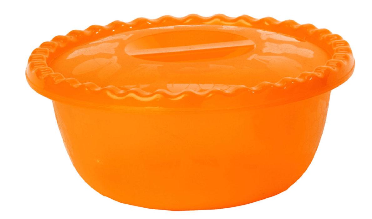 Миска Idea, с крышкой, цвет: оранжевый, 3 лМ 1316Вместительная миска круглой формы Idea изготовлена из высококачественного пищевого полипропилена. Изделие, оснащенное крышкой, очень функциональное, оно пригодится на кухне для самых разнообразных нужд: в качестве салатника, миски, тарелки. По периметру миска украшена узором в виде фруктов.Диаметр миски: 24,5 см.Высота миски (без учета крышки): 11 см.
