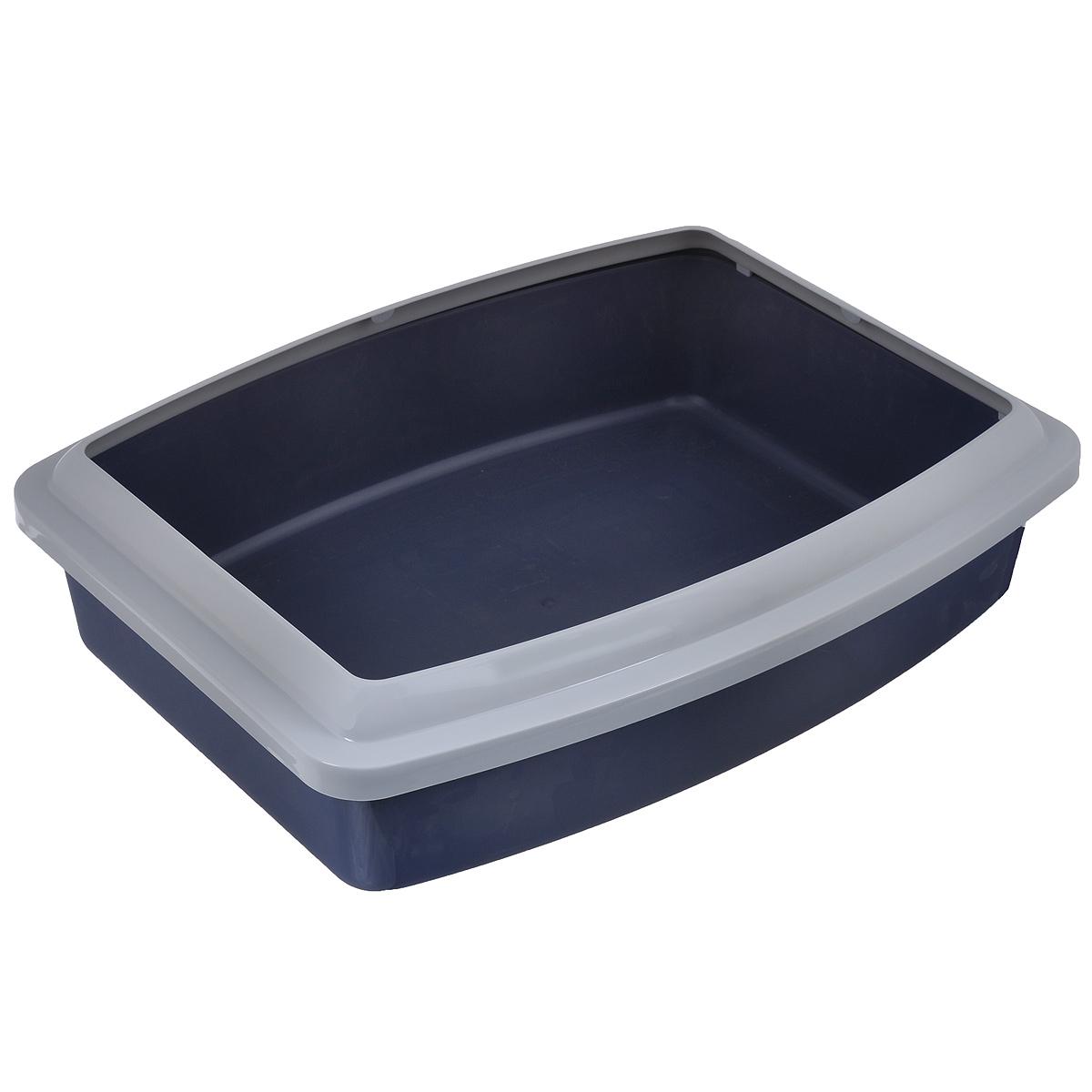Туалет для кошек Savic Oval Trays Jumbo, с бортом, 56 х 43,5 х 14,5 см209_темно-серый, серыйТуалет для кошек Savic Oval Trays Jumbo изготовлен из качественного прочного пластика. Высокий цветной борт, прикрепленный по периметру лотка, удобно защелкивается и предотвращает разбрасывание наполнителя.Это самый простой в употреблении предмет обихода для кошек и котов.