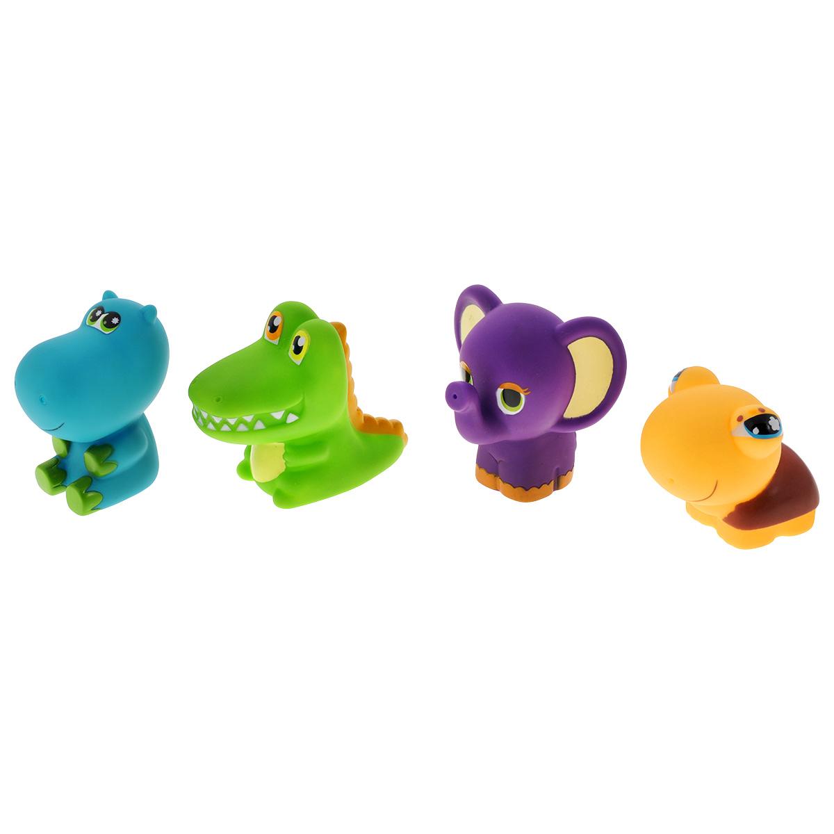 Игровой набор для ванны Mioshi Забавные малыши, 4 шт игрушки для ванны tolo toys набор ведерок квадратные