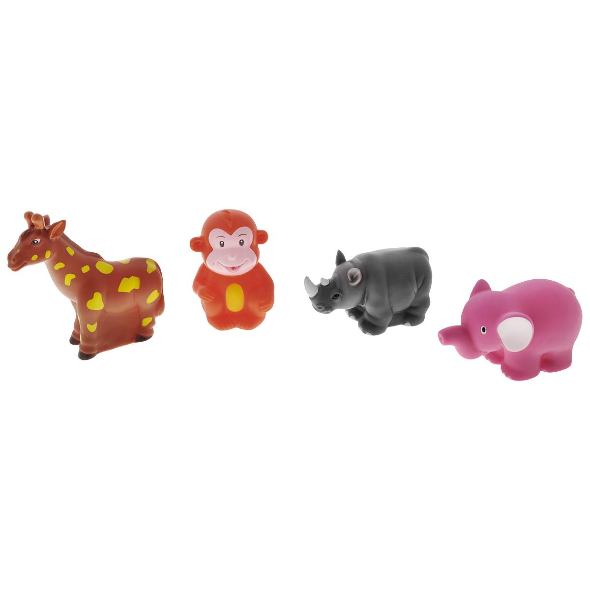 Игровой набор для ванны Mioshi Солнечная Африка, 4 шт игрушки для ванны tolo toys набор ведерок квадратные