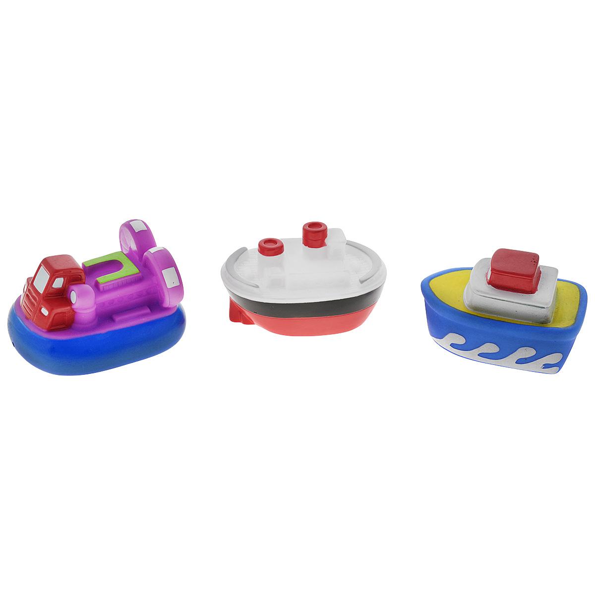 Игровой набор для ванны Mioshi Пароходики, 3 шт игрушки для ванны tolo toys набор ведерок квадратные