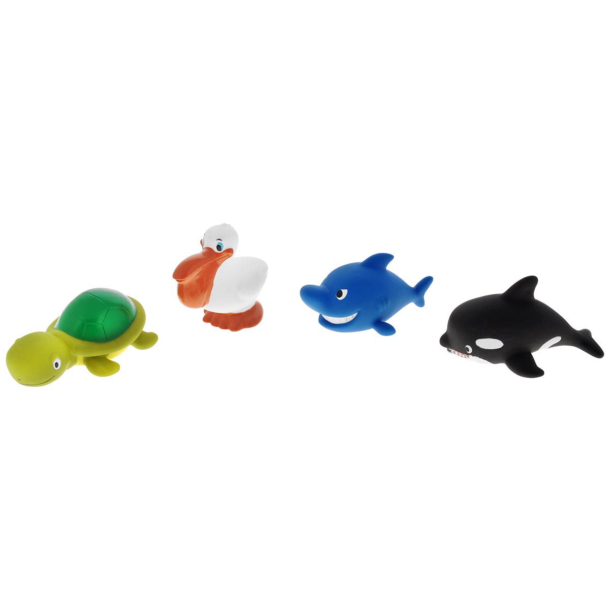 Игровой набор для ванны Mioshi Морские обитатели, 4 шт игрушки для ванны tolo toys набор ведерок квадратные