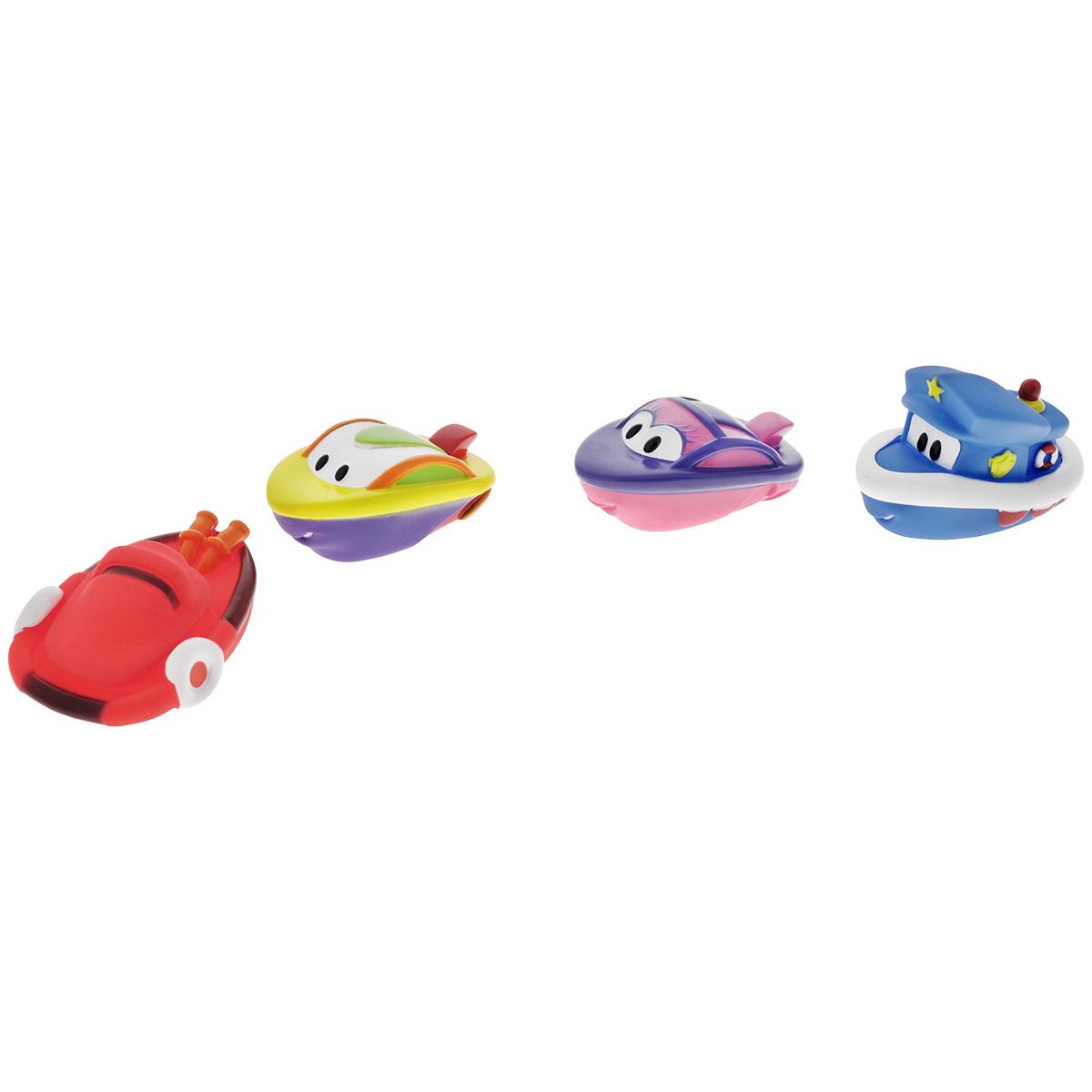 Игровой набор для ванны Mioshi Катерочки, 4 шт игрушки для ванны tolo toys набор ведерок квадратные