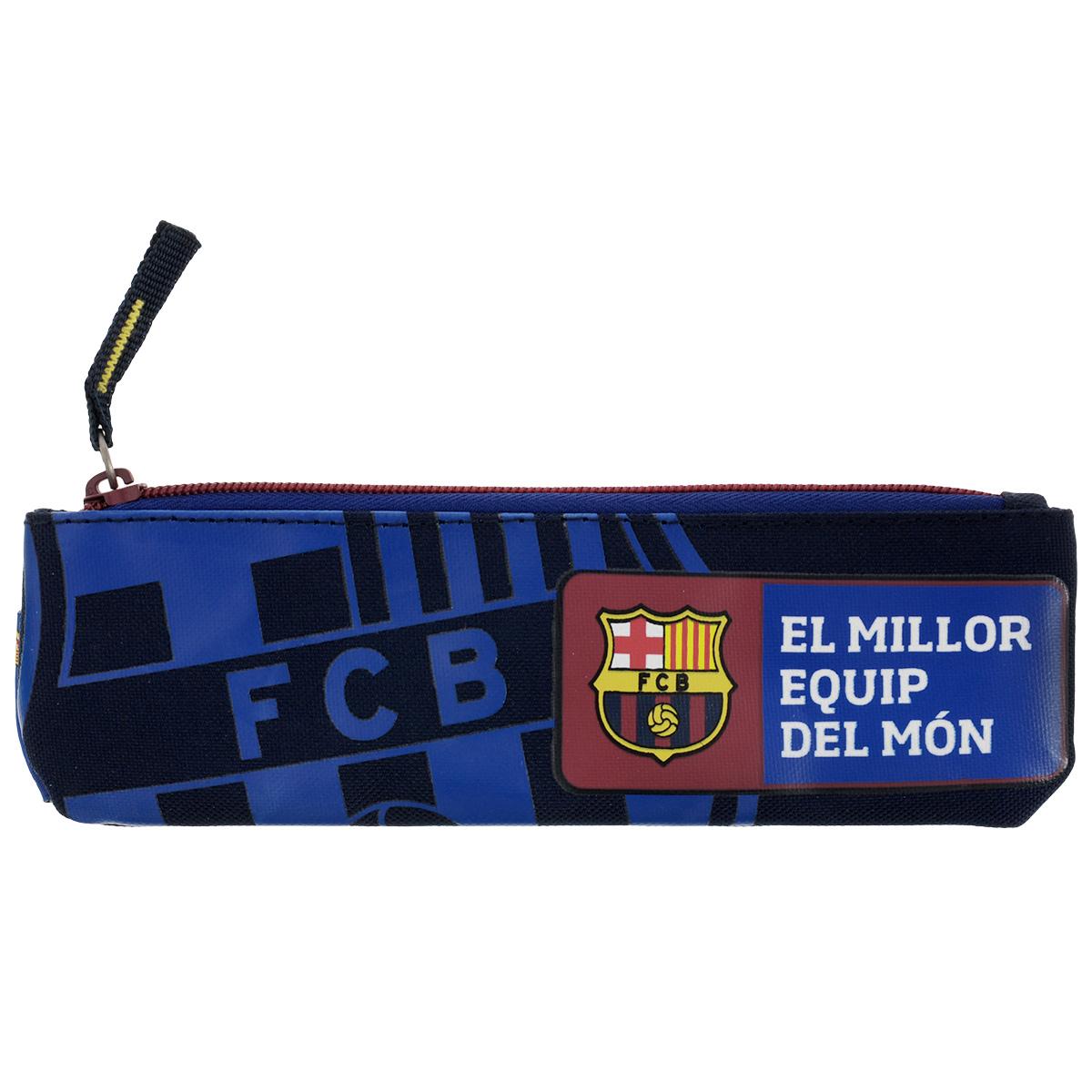 Пенал FC Barcelona, цвет: темно-синий, красный. BNBB-UT1-045BNBB-UT1-045Пенал FC Barcelona станет не только практичным, но и стильным школьным аксессуаром.Пенал выполнен из прочного полиэстера и закрывается на застежку-молнию. Состоит из одного вместительного отделения, в котором без труда поместятся канцелярские принадлежности. Пенал оформлен логотипом бренда FC Barcelona.Такой пенал станет незаменимым помощником для школьника или студента, с ним ручки и карандаши всегда будут под рукой и больше не потеряются и будет приятным продолжением рюкзака и сумки для сменной обуви FC Barcelona.