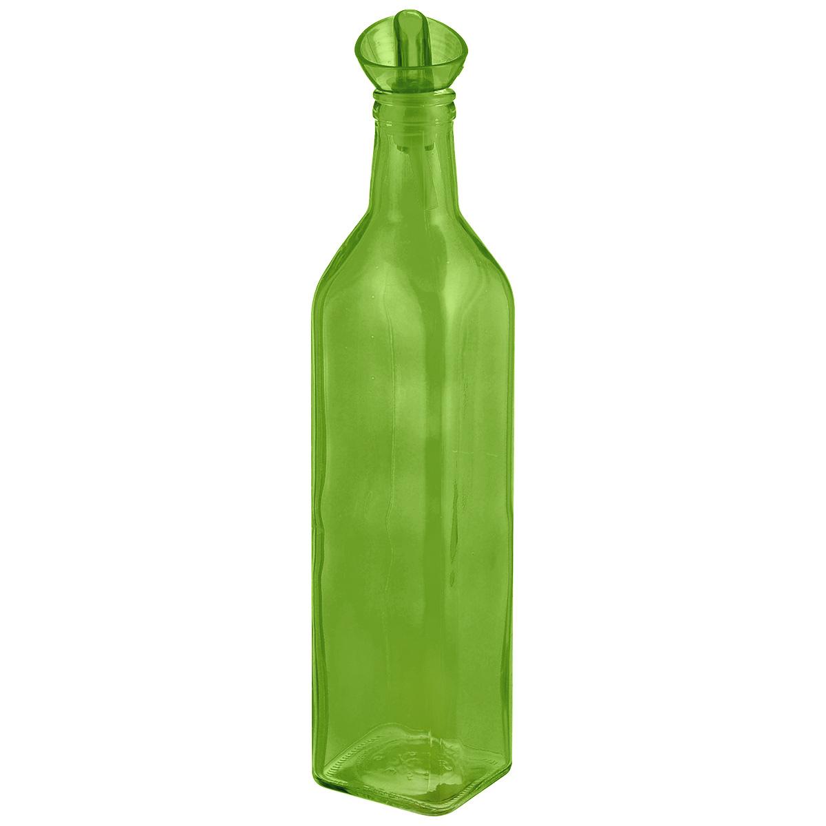 Емкость для масла Herevin, цвет: зеленый, 500 мл151430-000_зеленыйЕмкость Herevin, выполненная из цветного стекла, позволит украсить любую кухню, внеся разнообразие, как в строгий классический стиль, так и в современный кухонный интерьер. Она легка в использовании, стоит только перевернуть ее, и вы с легкостью сможете добавить оливковое, подсолнечное масло, уксус или соус. Емкость оснащена пластиковой пробкой с дозатором. Благодаря этому внутри сохраняется герметичность, и масло дольше остается свежим. Оригинальная, квадратная емкость для масла и уксуса будет отлично смотреться на вашей кухне. Объем: 500 мл. Диаметр (по верхнему краю): 2,5 см. Размер основания: 6 см х 6 см. Высота емкости (без учета крышки): 24 см.